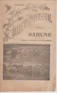 Bulletin Paroissial De Sahune Montreal Villeperdrix De Mai Juin 1932 - Religion