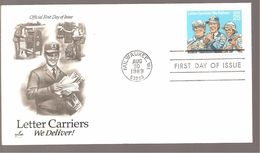 FDC 1989  LETTER CARRIERS - 1981-1990