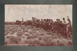 Mint Postcard Renegade Native Americans Indians Attacking Wagon Train - Native Americans
