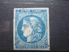 VEND BEAU TIMBRE DE FRANCE N° 46B !!! - 1870 Bordeaux Printing