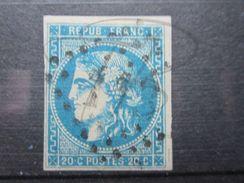 """VEND BEAU TIMBRE DE FRANCE N° 46B , G.C. """" 113 """" !!! - 1870 Bordeaux Printing"""