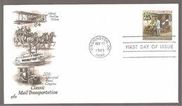 FDC 1989  CLASSIC  MAIL  TRANSPORTATION - Ersttagsbelege (FDC)