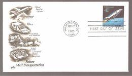FDC 1989 FUTURE  MAIL  TRANSPORTATION - Ersttagsbelege (FDC)
