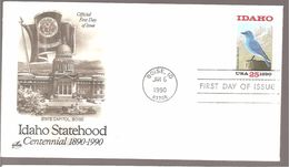 FDC 1990  IDAHO  STATEHOOD - Ersttagsbelege (FDC)