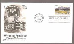 FDC 1990 WYOMING  STATEHOOD - 1981-1990