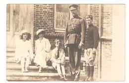 België / Belgique - Koning Albert, Koningin Elisabeth + Familie - Originele Fotokaart / Carte Photo Originale - Case Reali