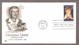 FDC 1990 MARIANNE MOORE - 1981-1990