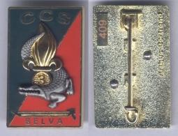 """Insigne De La Compagnie De Commandement Et De Soutien """" Selva """" Du 3e Régiment Etranger D'Infanterie - Army"""