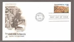 FDC 1990 AMERICA ISSUES - 1981-1990