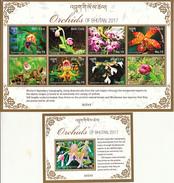 BHUTAN- 2017 LATEST ISSUE- HIMALAYAN ORCHIDS- MNH FULL SET- Orchideen- Orchidées- Orquídeas - Bhoutan