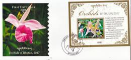 BHUTAN 2017 - HIMALAYAN ORCHIDS- FDC -  Orchids- Orchideen- Orchidées- Orquídeas - Bhutan