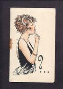 CARNET PUBLICITAIRE - LIQUEUR CHERRY ROCHER Avec Petit Bloc étiquette Papier Détachable - Femme élégante Illustrateur - Pubblicitari