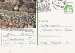 "BPK Bund P 134 I ""Esslingen Am Neckar"" Gelaufen Ab Kirchheim Unter Teck (ak1134) - [7] Federal Republic"