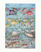 UAE 1991 Fish Souvenir Sheet 8 Stamps MNH Compl.  Scarce Topical Set - Red. PRICED - SKRILL PAY. ONLY - Emirats Arabes Unis