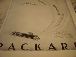 ANCIENNE PUBLICITE VOITURE PACKARD MOTOR NOUVEAUX MODELE 1926 - Voitures