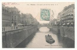 Rennes - Les Quais, Pris Du Pont Berlin - Editions G.F. - Rennes