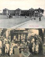 2 Postcards - Colombo Galle Face, Natice Boutique (animation) - Sri Lanka (Ceylon)