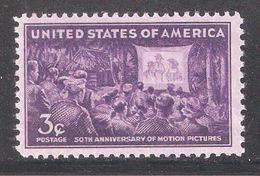 US 1944,Motion Picture,50th Anniversary,Sc 926,VF MNH**OG (SL-1) - United States