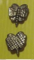 Fève  Plastique Doré Dos Quadrillé - Sujets Assortis Perez  1996 -   Papillon - Anciennes