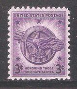 US 1946,Veterans Of WW-2 Issue,Sc 940,VF MNH**OG (SL-1) - United States