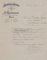 75 17 527 PARIS SEINE 1906 Manufacture Chemise A. ROUSSEAU Rue Bertin Poiree Deux Boules USINE VILLEDIEU NIHERNE ELBEUF - Francia