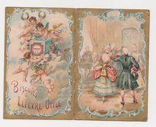 26302 Calendrier  1898 LU Lefevre Utile Nantes France Biscuits Ange Danse - 12x9cm - Calendriers