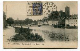 CPA  89 : AUXERRE   Les Quais   VOIR  DESCRIPTIF  §§§ - Auxerre