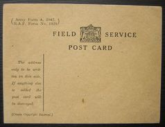 Field Service Postcard, Vierge , Non Circulée WW1 (guerre De 14 18) - 1902-1951 (Kings)