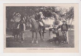 26303 -Rosporden -retour Du Marché -Ed : 8 Laussedat -costume Breton Cheval Mouton Noir Bretagne - France