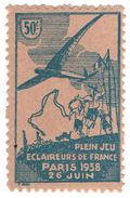 (I.B-CK) France Cinderella : Scout Jamboree 50c (Paris 1938) - Europe (Other)