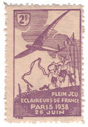 (I.B-CK) France Cinderella : Scout Jamboree 2Fr (Paris 1938) - Europe (Other)