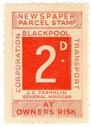(I.B) Blackpool Corporation Railway : Newspaper Parcel 2d - 1952-.... (Elizabeth II)