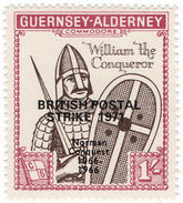 (I.B-JA) Guernsey Cinderella : Alderney Postal Strike Overprint 1/- - Ohne Zuordnung