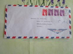 2 Lettres Affranchis Sabines Composition A 2fr70 Pour Le Liberia - Postal Rates