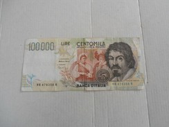 Italia - Banconota Da Lire 100.000 - [ 2] 1946-… : République