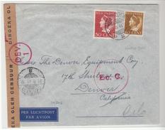 Netherlands East Indies / Airmail / V For Victory / U.S. / Horse Shoe Route / Patriotic Cinderel - Niederlande