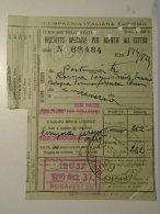 H1.3  Ticket De Train - Railway - Italia Postumia-Roma (Trieste Venezia Bologna) - Ufficio  Budapest  1939 - Transportation Tickets