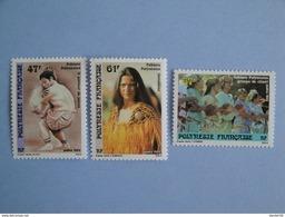 1989 Polynésie Française Yvert  333/5 ** Folklore Scott 512/4  Michel 532/4  SG 562/4 - Neufs