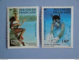 1989 Polynésie Française Yvert  331/2 **  Polynesian Life Scott 510/1  Michel 530/1  SG 560/1 - Polynésie Française