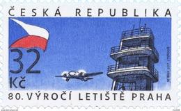 Czech Republic - 2017 - 80 Years Of Prague Airport - Mint Stamp - Nuovi