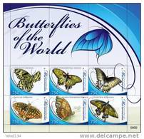 MICRONESIA   816  MINT NEVER HINGED MINI SHEET OF BUTTERFLIES-INSECTS   # M-546-1  (  0917 - Farfalle