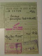 H1.4  Ticket De Train - Railway - Italia  MERANO - Spondigna-  Ufficio  Budapest  1938 - Transportation Tickets