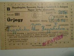 H1.8 Ticket De Train - Railway -  Budapest  -Hegyeshalom To - Austria 1934 - Unclassified