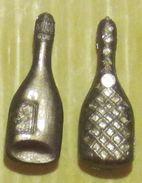 Fève  Plastique Doré Dos Quadrillé - Sujets Assortis Perez  1996 -   Bouteille - Anciennes