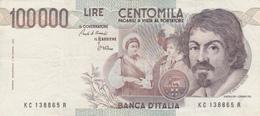 Billet ITALIEN 100000 Lire 1983. - [ 2] 1946-… : Républic