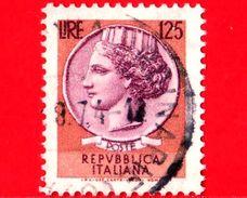ITALIA - Usato - 1974 -  Siracusana - Valori Complementari - 125 L. - Antica Moneta Siracusana - 1971-80: Usados