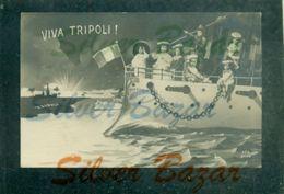 TRIPOLI- - ANNULLO AMBULANTE  PISA TORINO A-   NAVI - VITTORIA - Libia