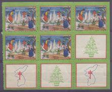 KOREA :1935: Sheet Of 9 Vignettes/cinderellas – Mint/With Glue : §@§ Seasons Greetings §@§: KERSTMIS,WEIHNACHTEN,HEALTH, - Corée (...-1945)