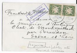 BAYERN - 1899 - CARTE Avec CACHET De AGENCE POSTALE De MONTAGNE à HIRSCHBERGHÜTTE (TEGERNSEE) => BRANDON SAONE ET LOIRE - Deutschland