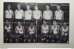 Slovenia Basketball Cards Stickers  Nr. 1-4  National Team Yugoslavia World Championship Argentina 1950 - Stickers